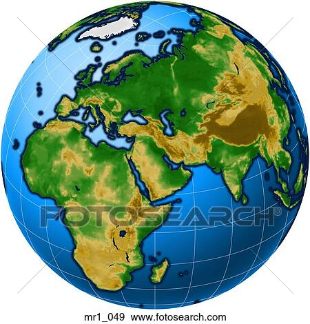 Stock photograph of middle east asia map globes europe africa stock photograph middle east asia map globes europe africa sciox Images