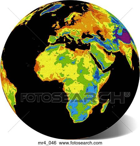 Stock images of europe middle east map globe africa mr4046 europe middle east map globe africa gumiabroncs Images