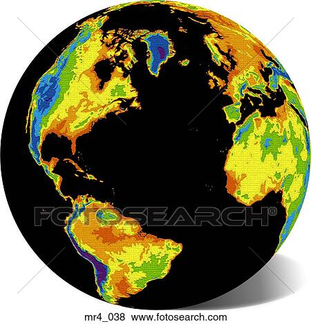 Pictures of globe map north atlantic world mr4038 Search