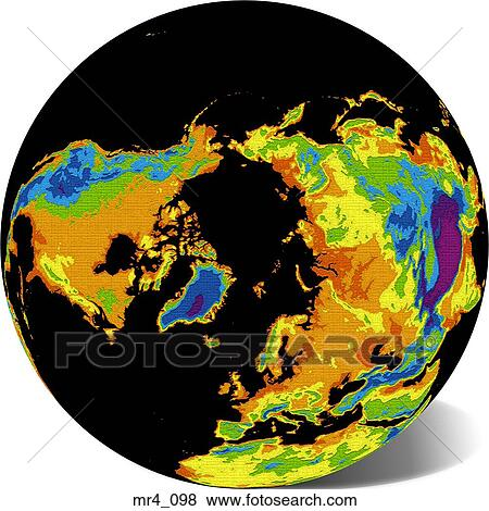 Pictures of globe map north pole world mr4098 search stock picture globe map north pole world fotosearch search stock photos gumiabroncs Gallery