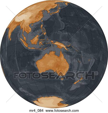 Stock photo of globe world map indonesia australia mr4084 stock photo globe world map indonesia australia fotosearch search sciox Images