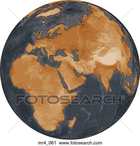 Stock photography of middle east asia map globe europe africa middle east asia map globe europe africa gumiabroncs Images