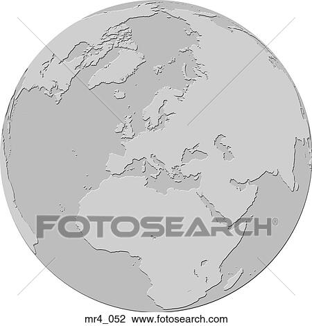 Stock Photograph of map, asia, globe, europe, atlas, middle east ...