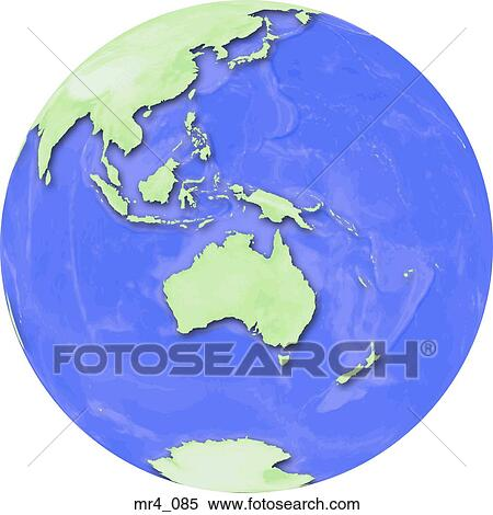Stock Image Of Globe World Map Indonesia Australia Mr - Globe world map