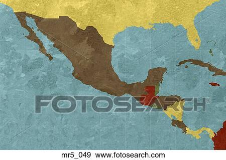 墨西哥地图英文版