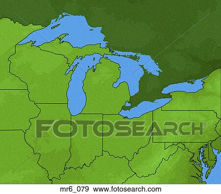 Map Usa Great Lakes - Map of the us great lakes