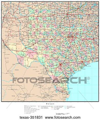 Political Map Of Texas