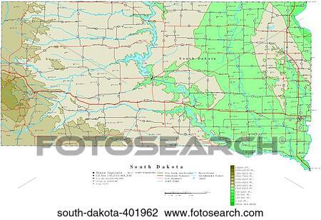 地图, 轮廓, 美国