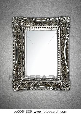 stock fotograf ornately gerahmt spiegel pe0064329 suche stock fotografie poster bilder. Black Bedroom Furniture Sets. Home Design Ideas