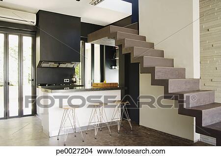coleccin de foto moderno escaleras encima cocina