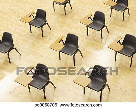 coleccin de imgen escritorios en vaco aula