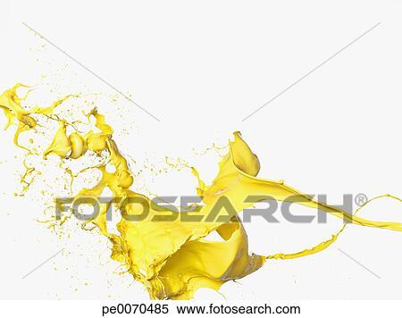 stock bild gelbe farbe spritzen pe0070485 suche stockfotos wandbilder fotografien und. Black Bedroom Furniture Sets. Home Design Ideas