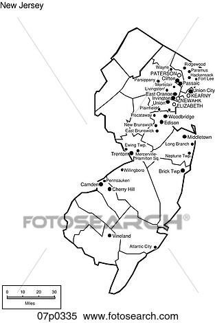 Clipart Of New Jersey County Map P Search Clip Art - County maps of new jersey