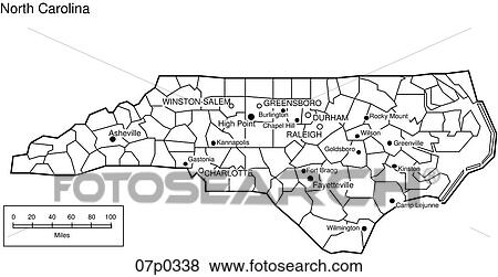 Clip Art Of North Carolina County Map P Search Clipart - County maps of north carolina