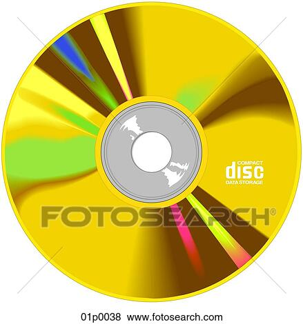 Clip Art of cd rom 01p0038 - Search Clipart, Illustration Posters ...