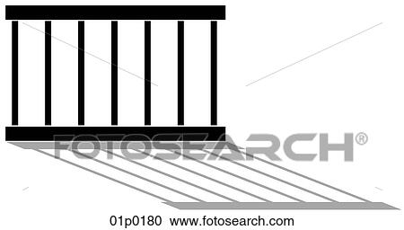 Clipart of prison bars 01p0180 - Search Clip Art, Illustration ...