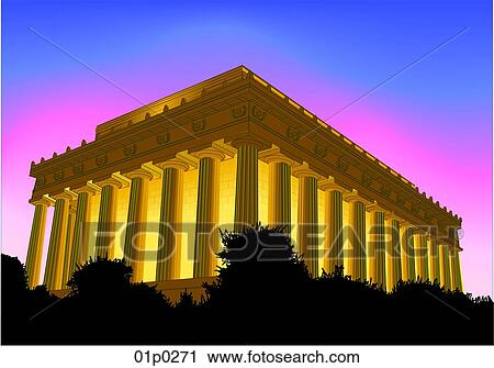 lincoln memorial building clipart. clipart lincoln memorial at dusk fotosearch search clip art illustration murals building