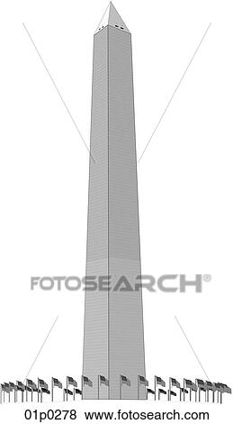 clip art of washington monument 01p0278 search clipart Washington Monument Cartoon Washington Monument Stock Vector