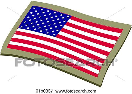 clip art of american flag embroidered 01p0337 search clipart rh fotosearch com american flag graphic with christian cross american flag graphics for trucks