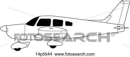 Clipart of Civil Aviation 14p5544 - Search Clip Art, Illustration ...