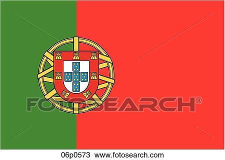 Portugal Flag Clipart Royalty Free Portugal Flag Clip Art - Portugal map flag