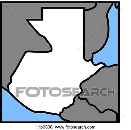 Clip Art of Guatemala- Mapa 17p0308 - Search Clipart, Illustration ...