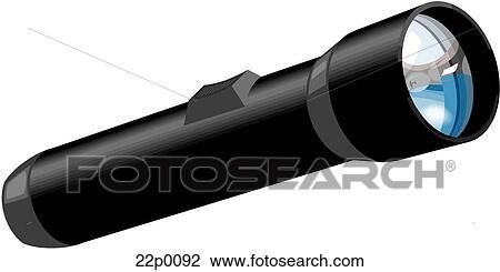 Taschenlampe clipart  Clipart - bewegliche taschenlampe 22p0092 - Suche Clip Art ...