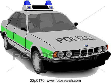 clipart voiture allemande police 22p0170 recherchez des clip arts des illustrations des. Black Bedroom Furniture Sets. Home Design Ideas