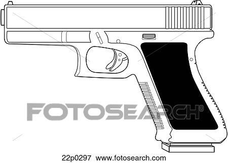 Clipart - austria-glock modell 17 22p0297 - Recherchez des ...