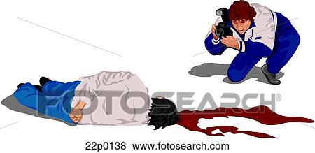 clip art of photo of crime scene 22p0138 search clipart rh fotosearch com crime prevention clipart crime scene clipart free