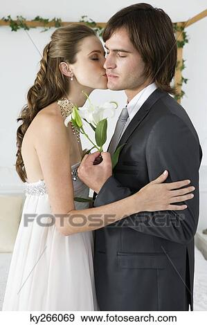 新娘, 亲吻, 新郎