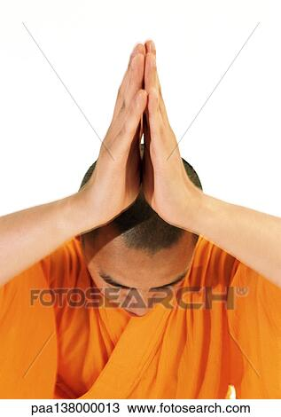 Tête rasée de moine