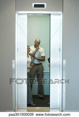 people in elevator clipart. stock photograph - people in elevator, doors closing. fotosearch search photography, elevator clipart