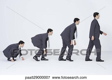 Picture of Businessman evolving, digital composite paa529000007 ...
