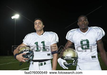 Standing Football Football Players Standing Side