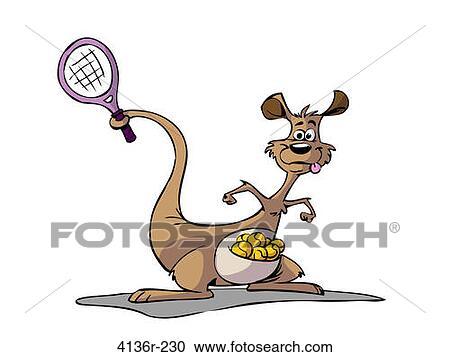 Kangoeroe, vector, illustratie stock foto