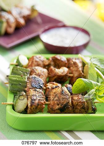 picture of chicken tandoori brochettes 076797 search stock photography photos prints images. Black Bedroom Furniture Sets. Home Design Ideas