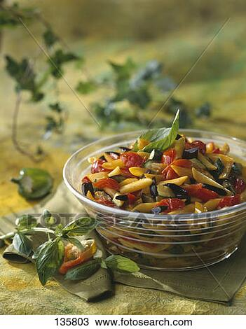Stock Photo of Penne and vegetable salad 135803 - Search Stock Images ...