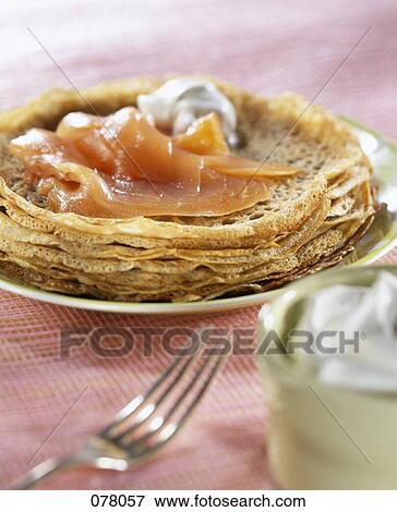 Picture of Mini buckwheat pancakes with smoked salmon ...