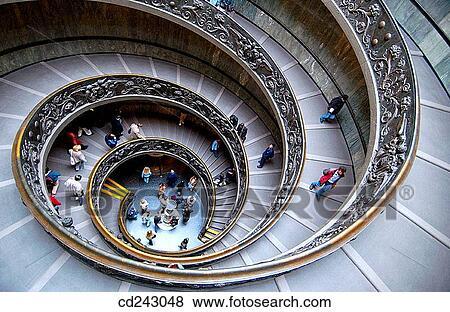 Images spirale escalier par donato bramante for Escalier spirale