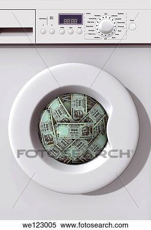 washing money in washing machine