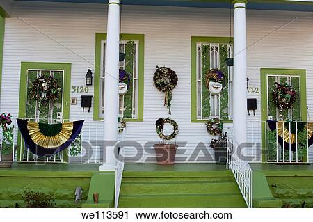 Front Porch Clipart stock photography of front porch of creole cottage in uptown new