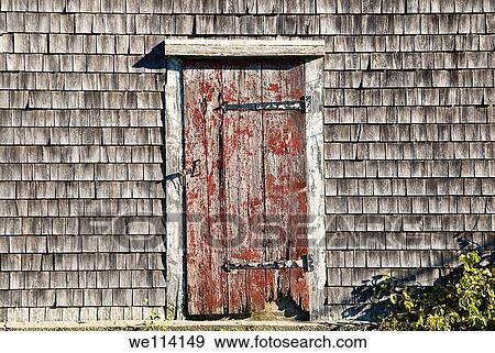 Rustic door and shingles Cape Cod MA & Stock Photograph of Rustic door and shingles Cape Cod MA ... pezcame.com