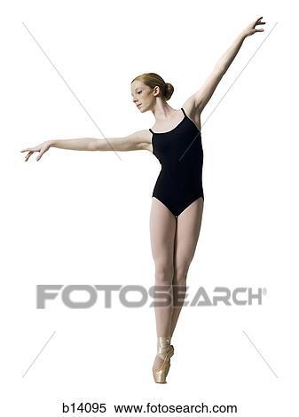 Banque d 39 image adolescent ballerine dans collant for Collant mural francais