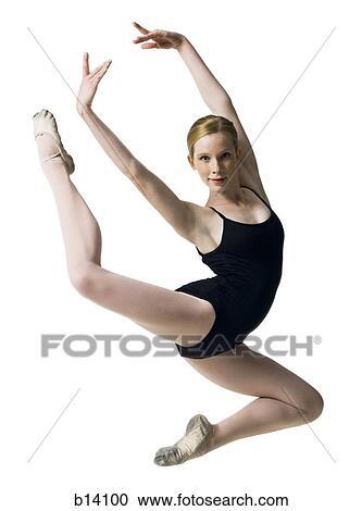 Banques de photographies adolescent ballerine dans for Collant mural francais