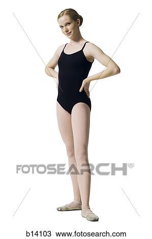 Banque de photo adolescent ballerine dans collant for Collant mural francais