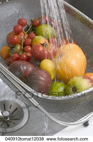 Pictures of food still life washing wash water fruit vegetable 040910tomat12038 search - Foods never wash cooking ...