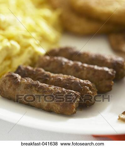 Pictures of Food, Breakfast, Sausage, Links, Plate ...