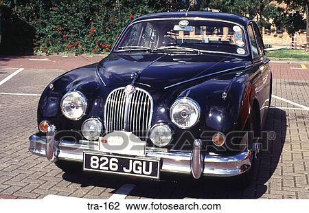 Old Black Jaguar Car