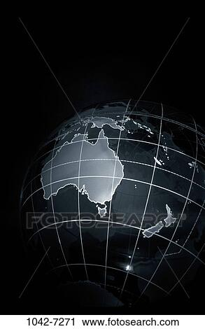 Stock photography of world globe map land contrast australia world globe map land contrast australia new zealand gumiabroncs Image collections